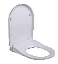 Wiesbaden Luxe douche-WC zitting stroomloos wit