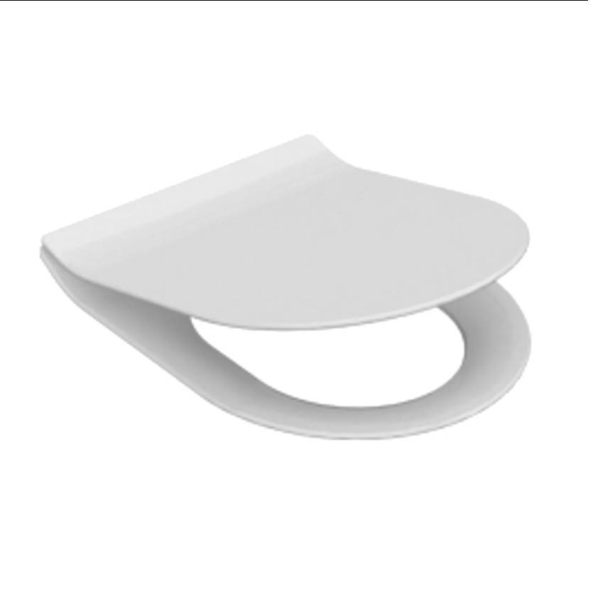 Toiletzitting Alfa Met Softclose Wit