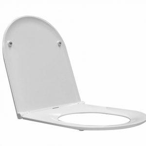 Toiletzitting Wiesbaden Flatline 2.0 Met Deksel One Touch Wit