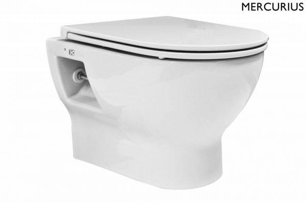 Mercurius compact wandcloset 49 cm met Flatline Soft-Close zitting wit
