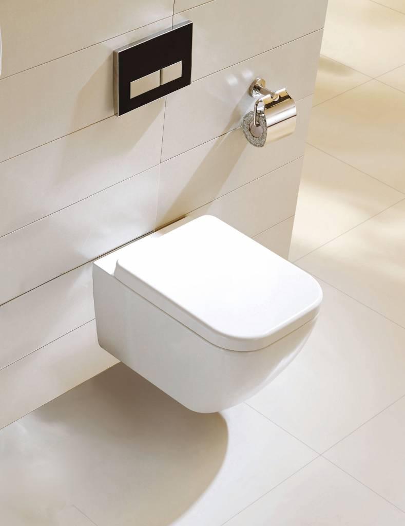 Wand-wc Soft Close vierkant