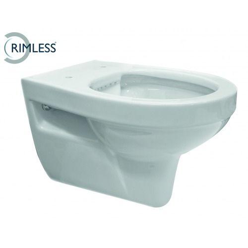 Trevi Rimless wandcloset 55 cm zonder zitting wit