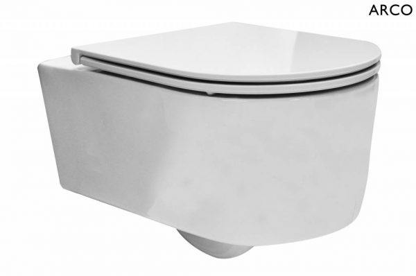 Arco wandcloset 55 cm met Flatline Soft-Close zitting wit